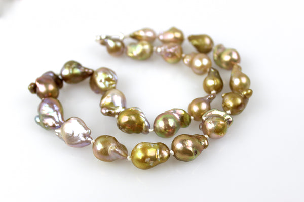 morning glory bronze baroque pearl necklace