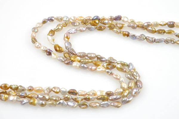 little nugget pearl strands
