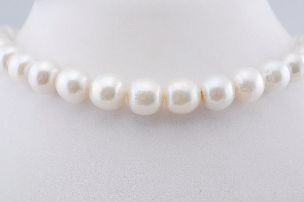 classic white near round pearls for every season