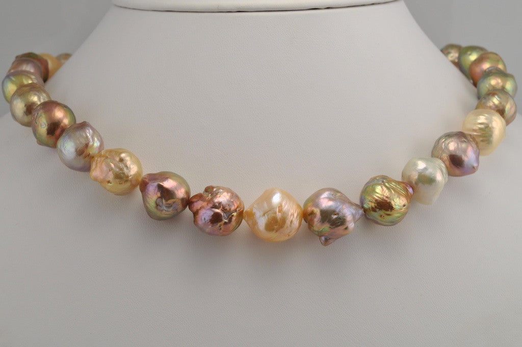 GORGEOUS GIANT BAROQUE PEARL STRAND