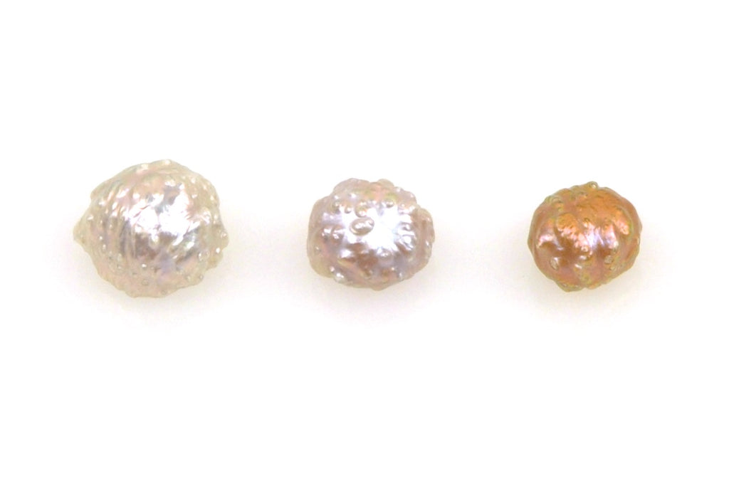 3 pearl lot of rosebud button pearls