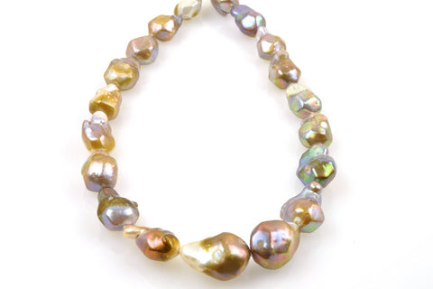 faceted pondslime pearl drop strand