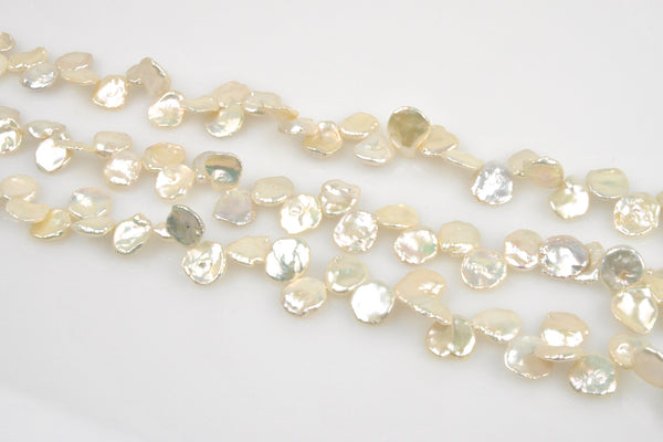 3 strand lot of eccentric-drilled petal pearl