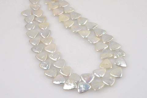 triangle coin center drill chinese fresh water pearl strands