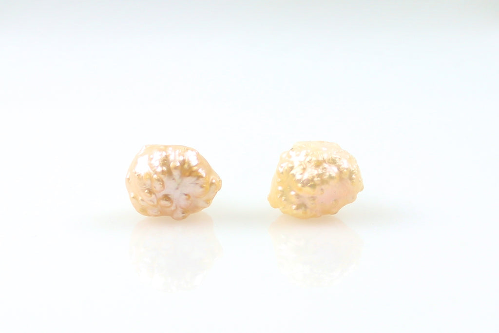peach rosebud stunner stud earrings