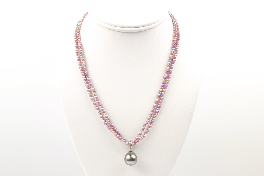"perfect pearl ""chain"" in pink"
