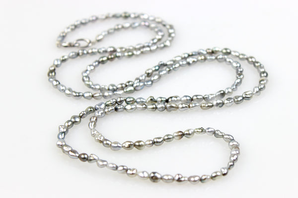 "the perfect tahitian keshi pearl ""chain"""