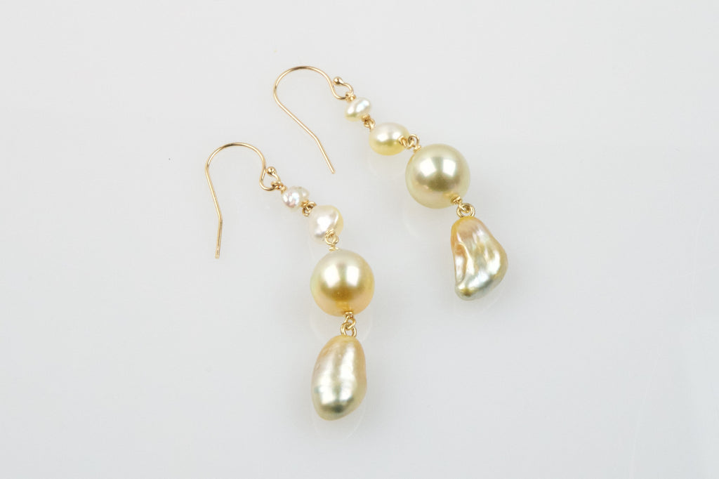 portrait of the shining sea shore earrings