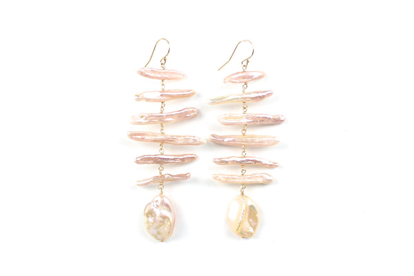 mobile summer pearl earrings
