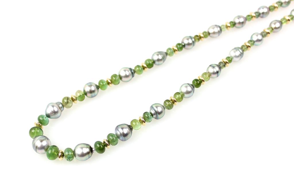 tourmaline and tahitian queen's bridge necklace