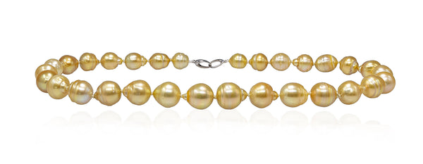 Glorious Sunrise Baroque Golden South Sea pearl necklace-3