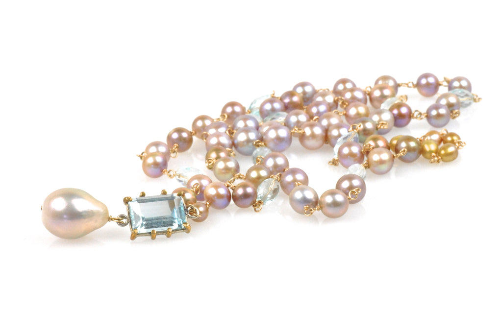 golden soiree pearl necklace