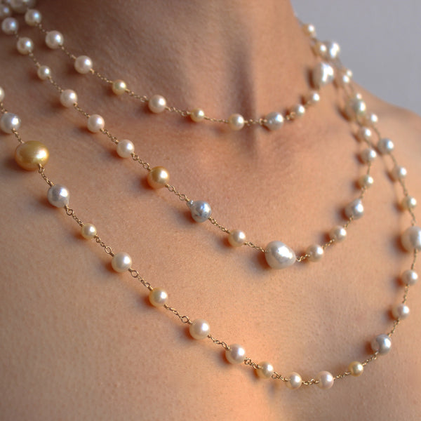 Paradise Found Japan Akoya and South Sea pearl necklace