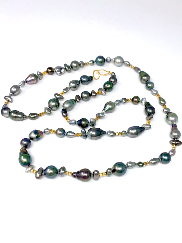 Calm and Strength Tahitian pearl rope