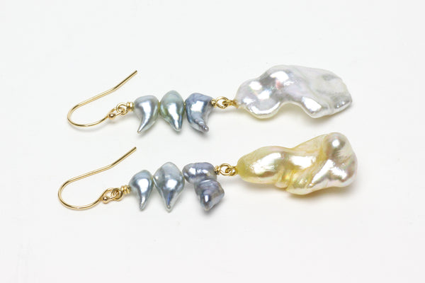 windward side of the island keshi pearl earrings
