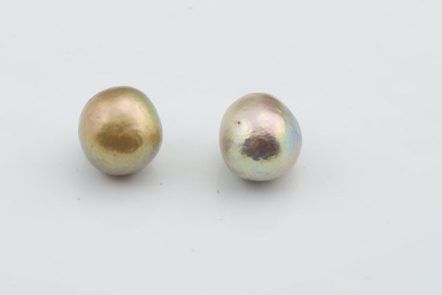 pair of soft rosebud pearls
