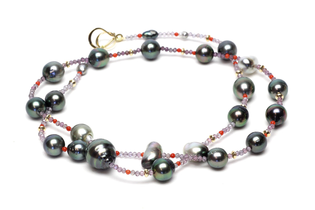 sparkle and spice tahitian pearl necklace