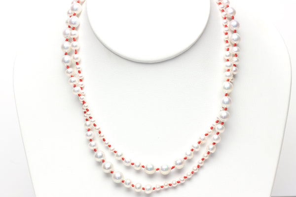 undulating pearl heartbeat necklace