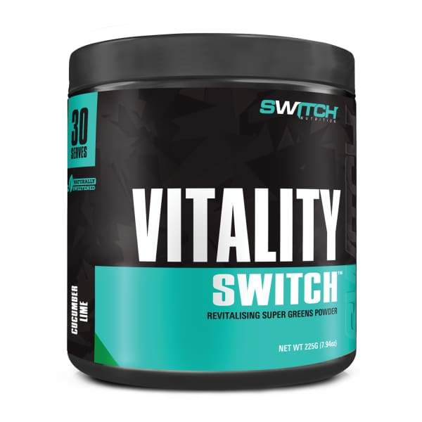 Vitality Switch Super Greens Wholefood Powder - Cucumber Lime - Health & Wellbeing