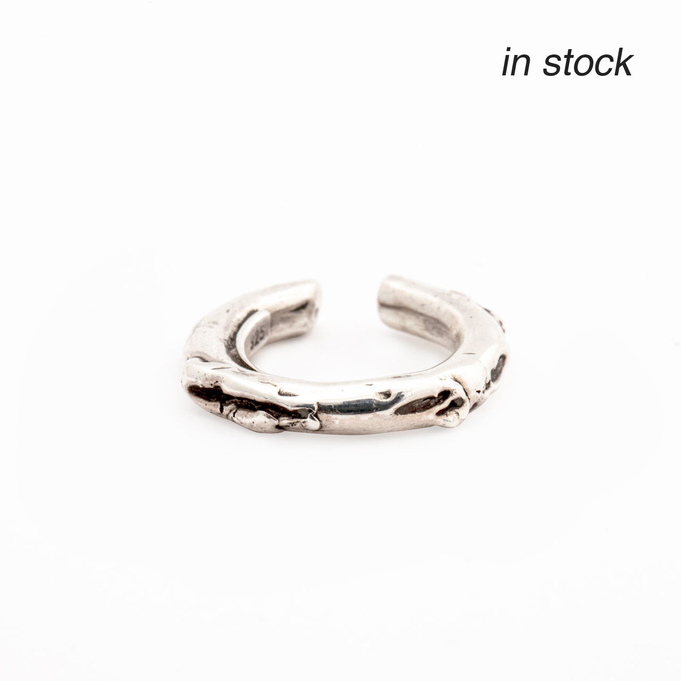 ear cuff cenote silver product view innan jewellery in stock