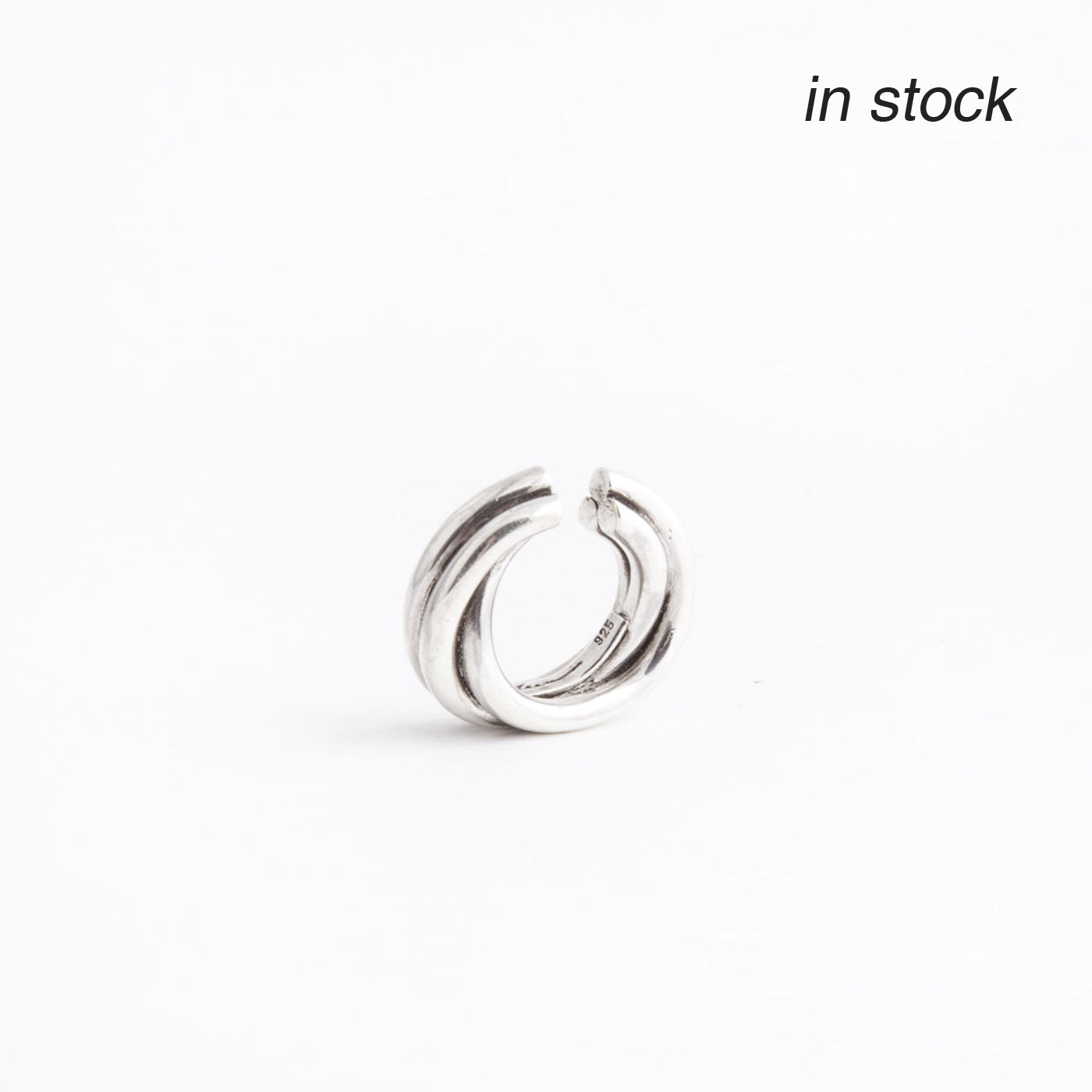 ear cuff flow silver product view innan jewellery in stock