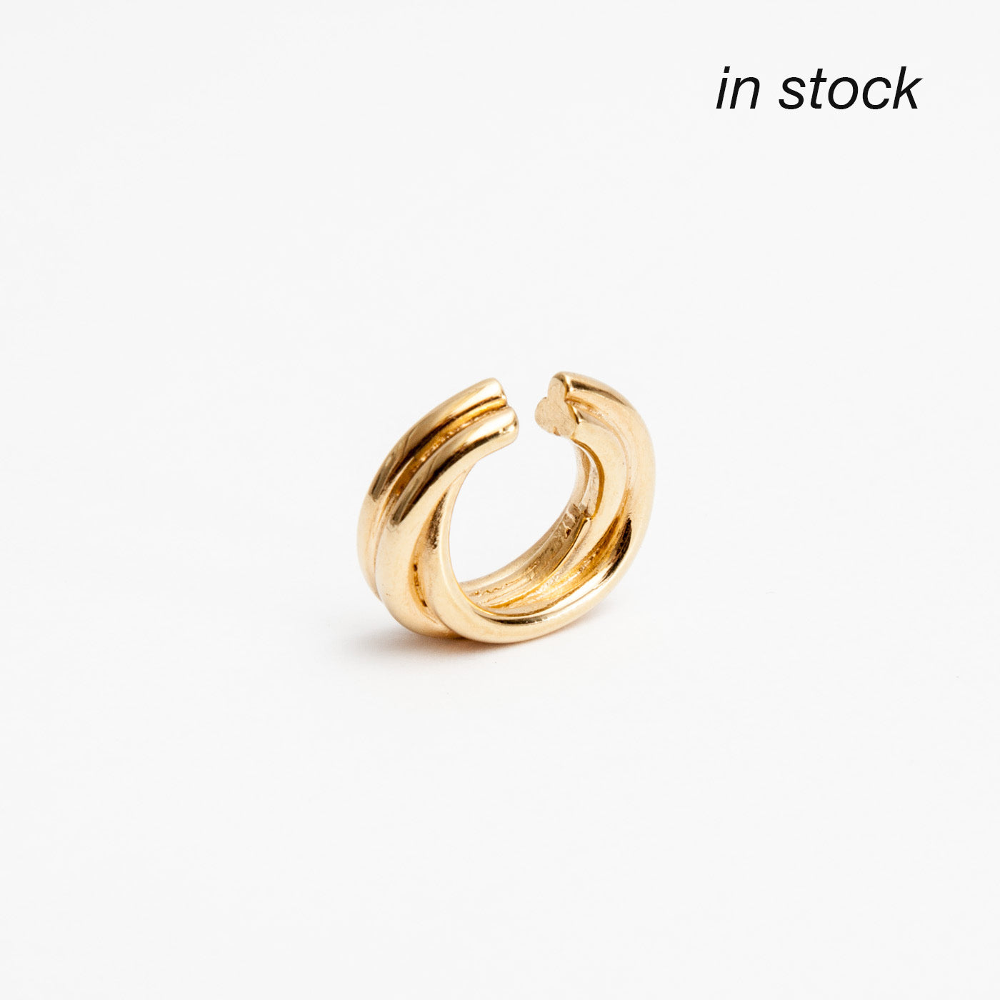 ear cuff golden flow silver product view innan jewellery in stock