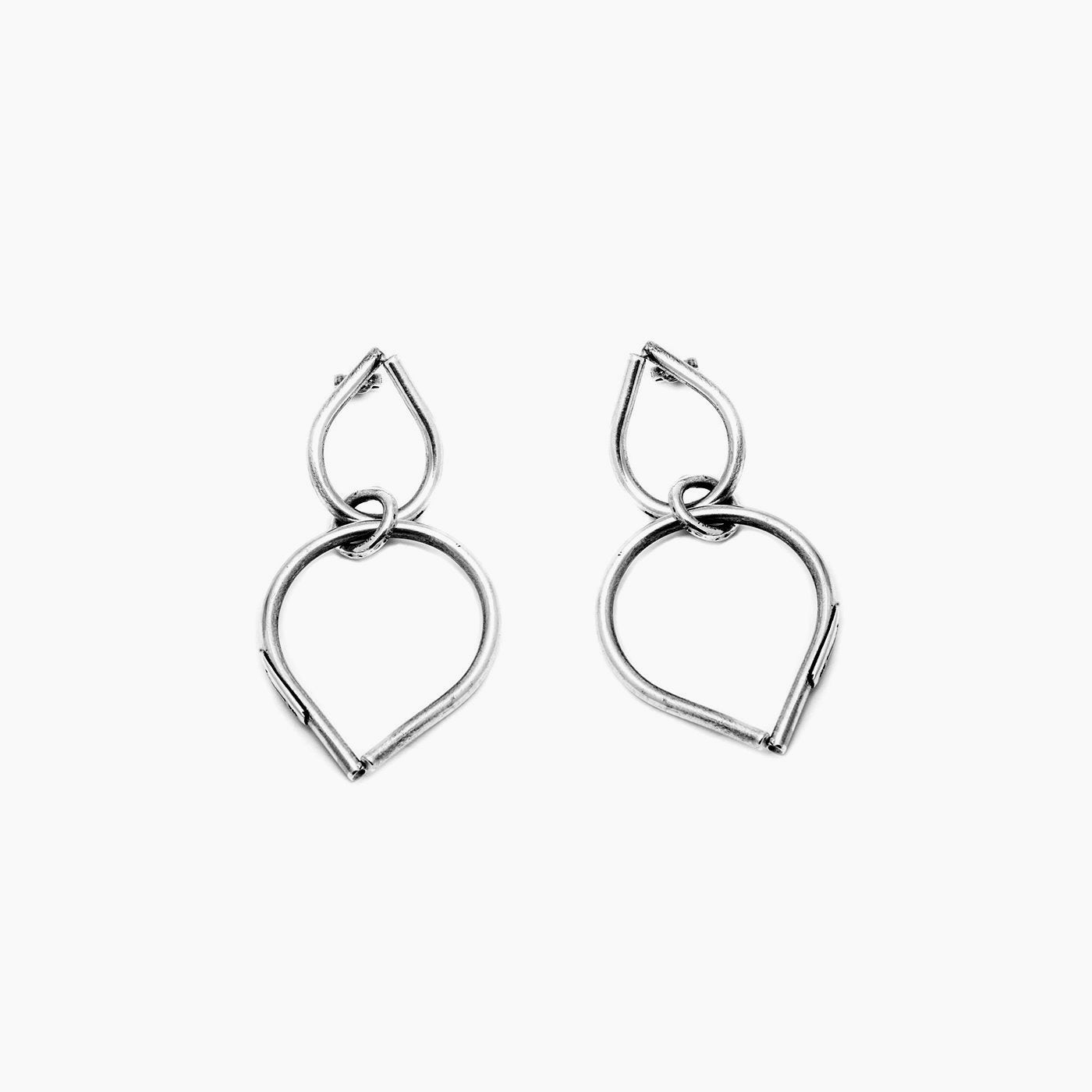 earrings chaotic bond silver product view innan jewellery