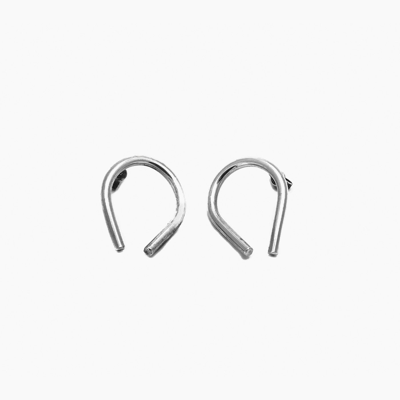 earrings chaotic curve silver product view innan jewllery