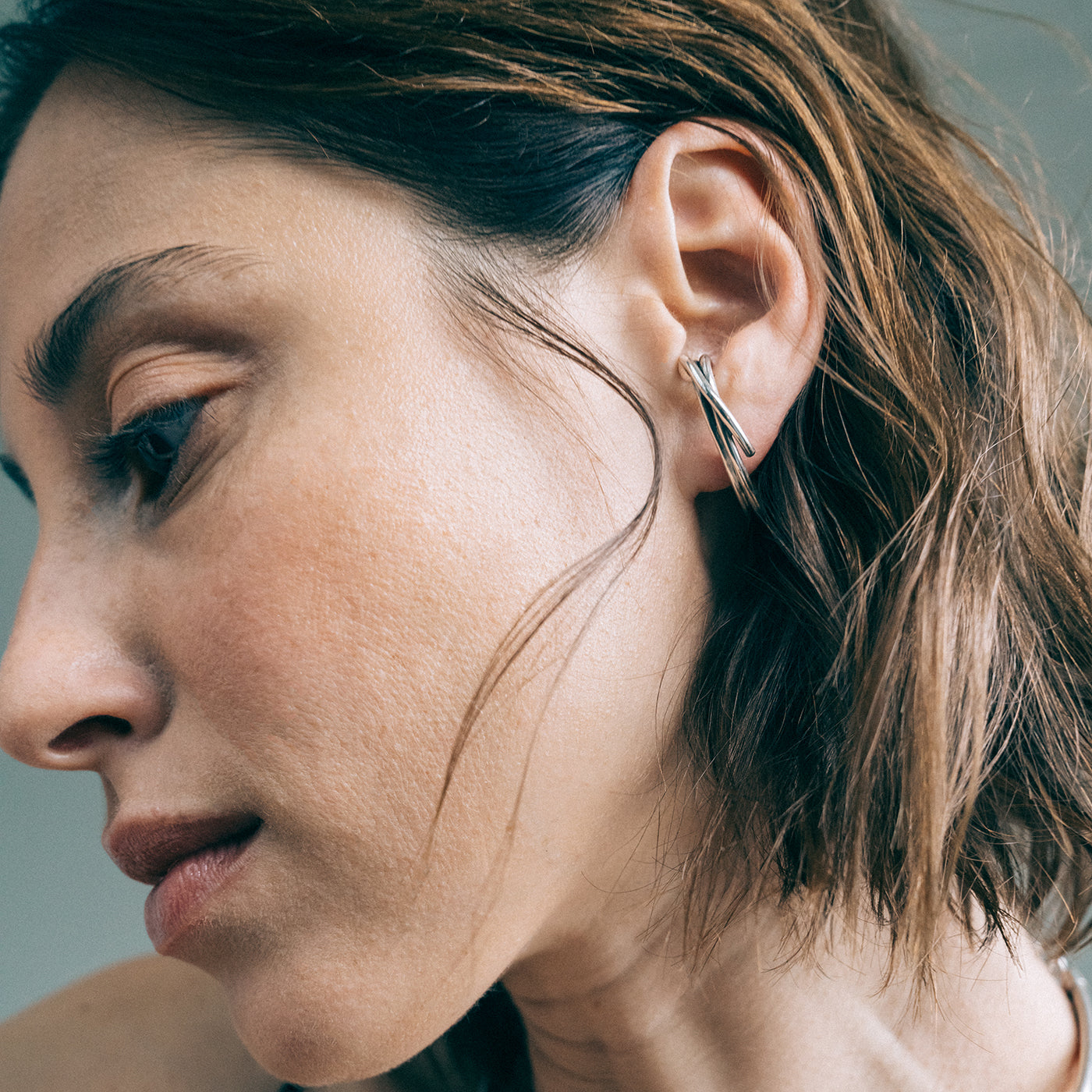 Earrings drift silver product view innan jewellery-in-stock