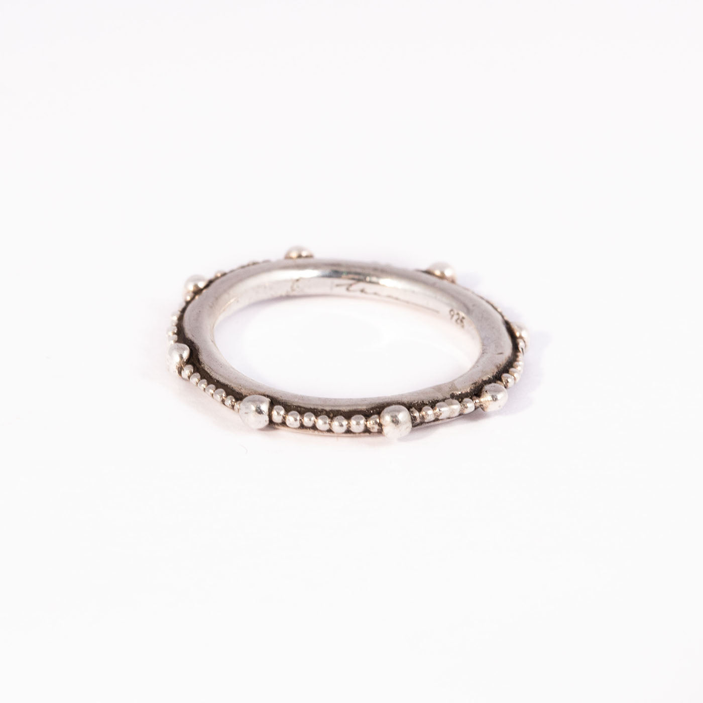INNAN Jewellery designer Cenote Pearl Ring in sterling silver handmade in Berlin