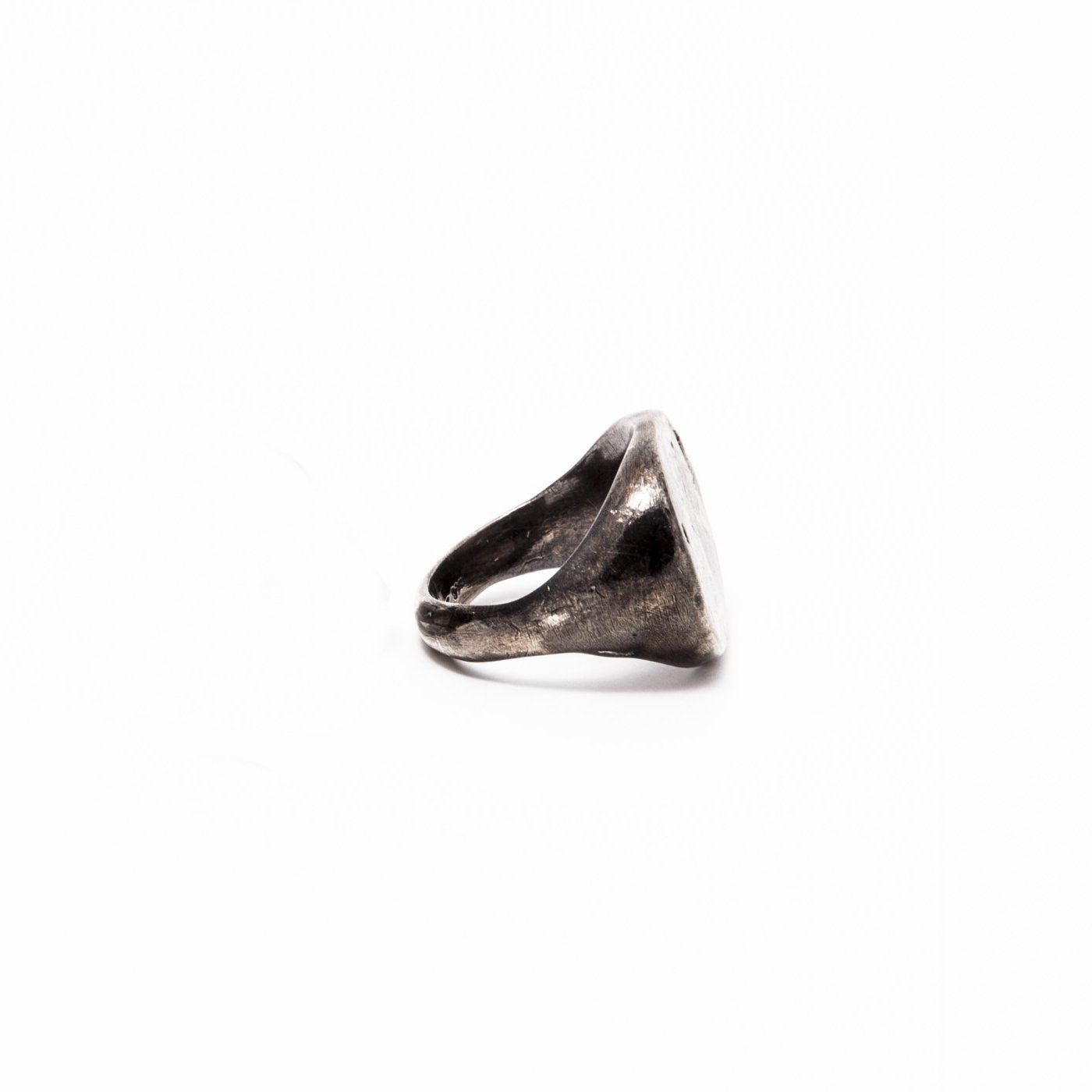 partner signet ring juno silver gold product front view innan jewellery