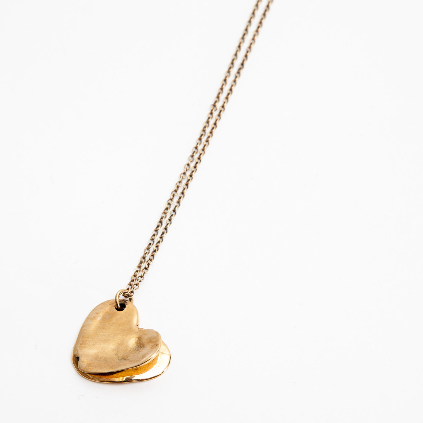 pendant golden layers of love silver product view innan jewellery