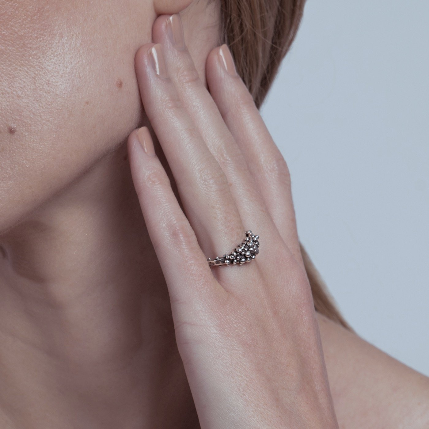 ring asterism silver product view innan jewellery