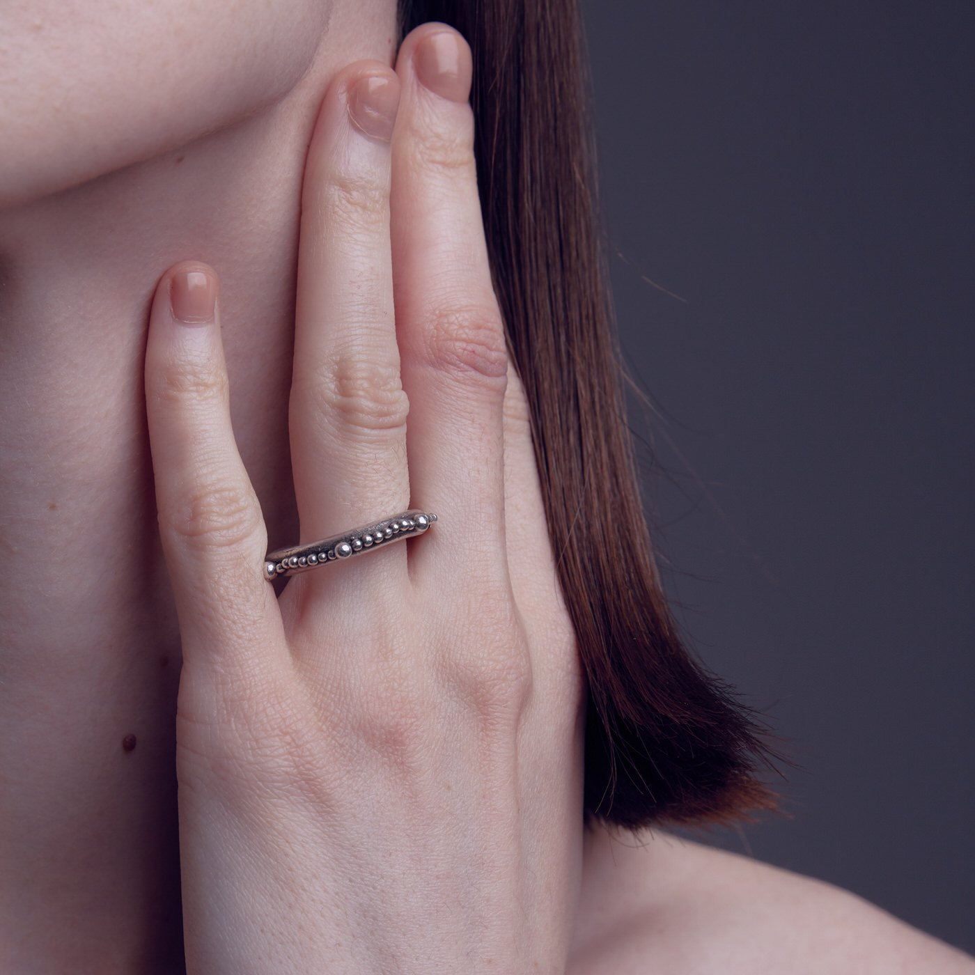 ring cenote maxi pearl silver product view innan jewellery