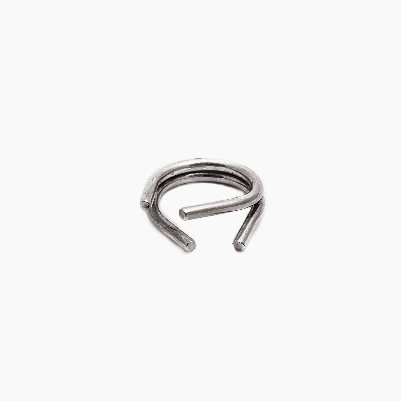 ring chaotic duo silver product view innan jewellery