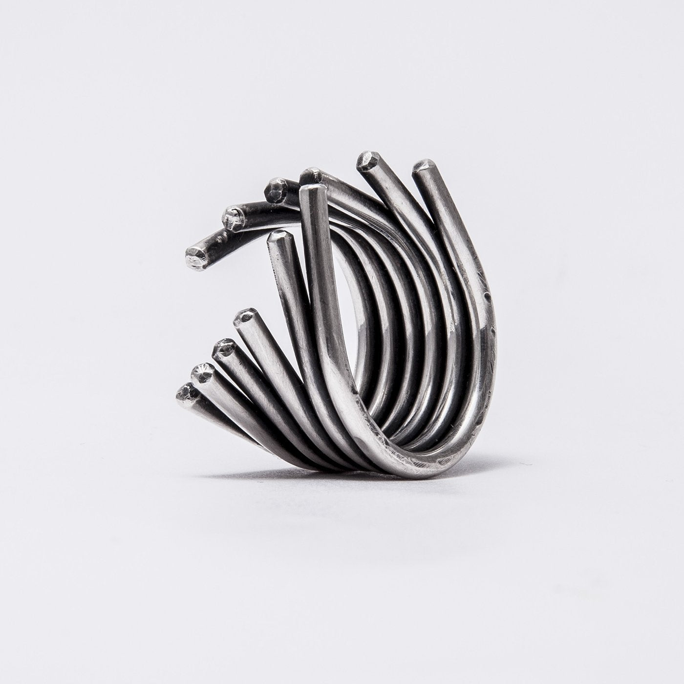 ring massive open oxidized silver product view innan jewellery