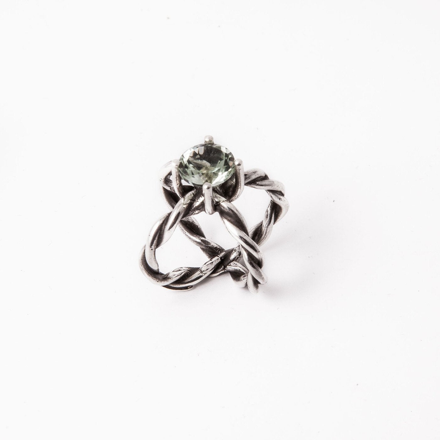 ring royal universe green silver prasiolite product view innan jewellery