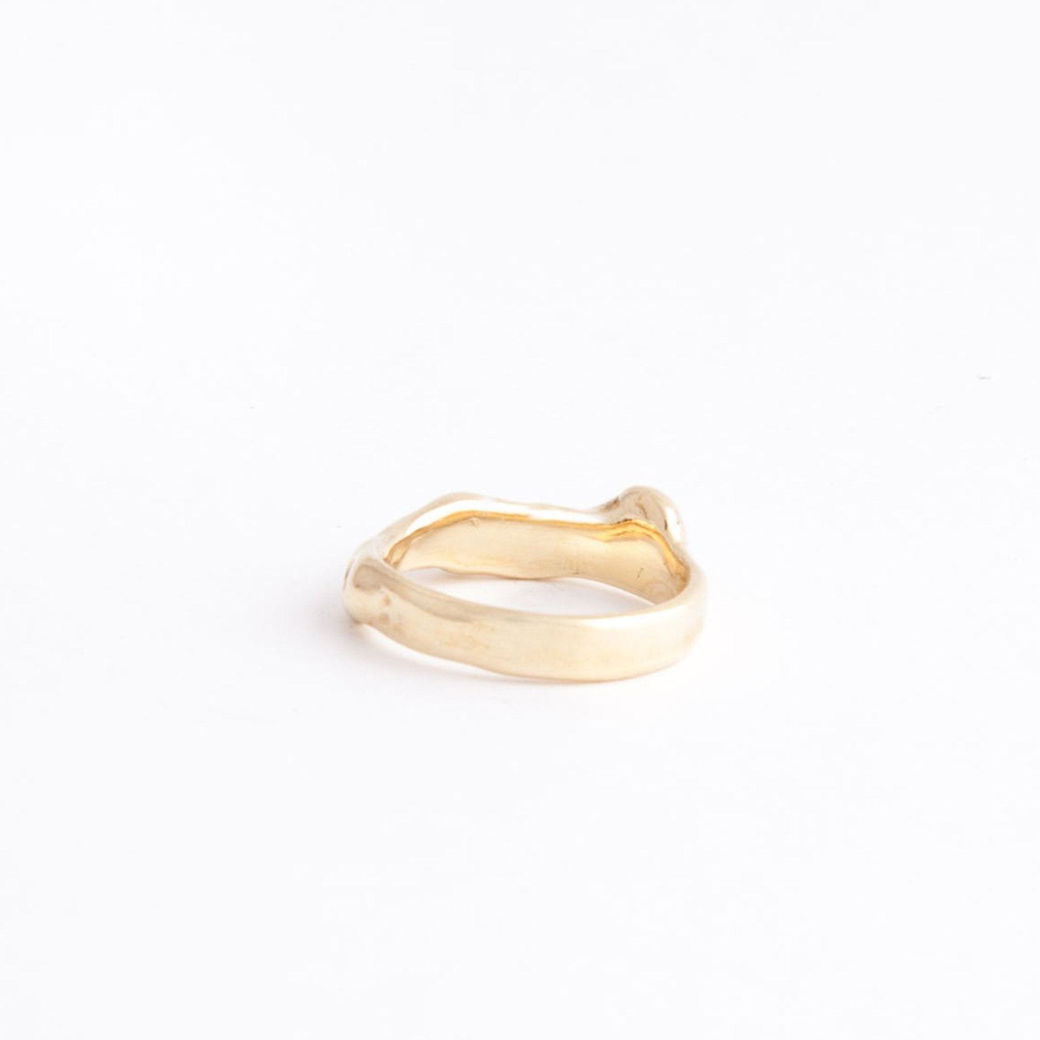 wedding ring apollo gold product view front innan jewellery