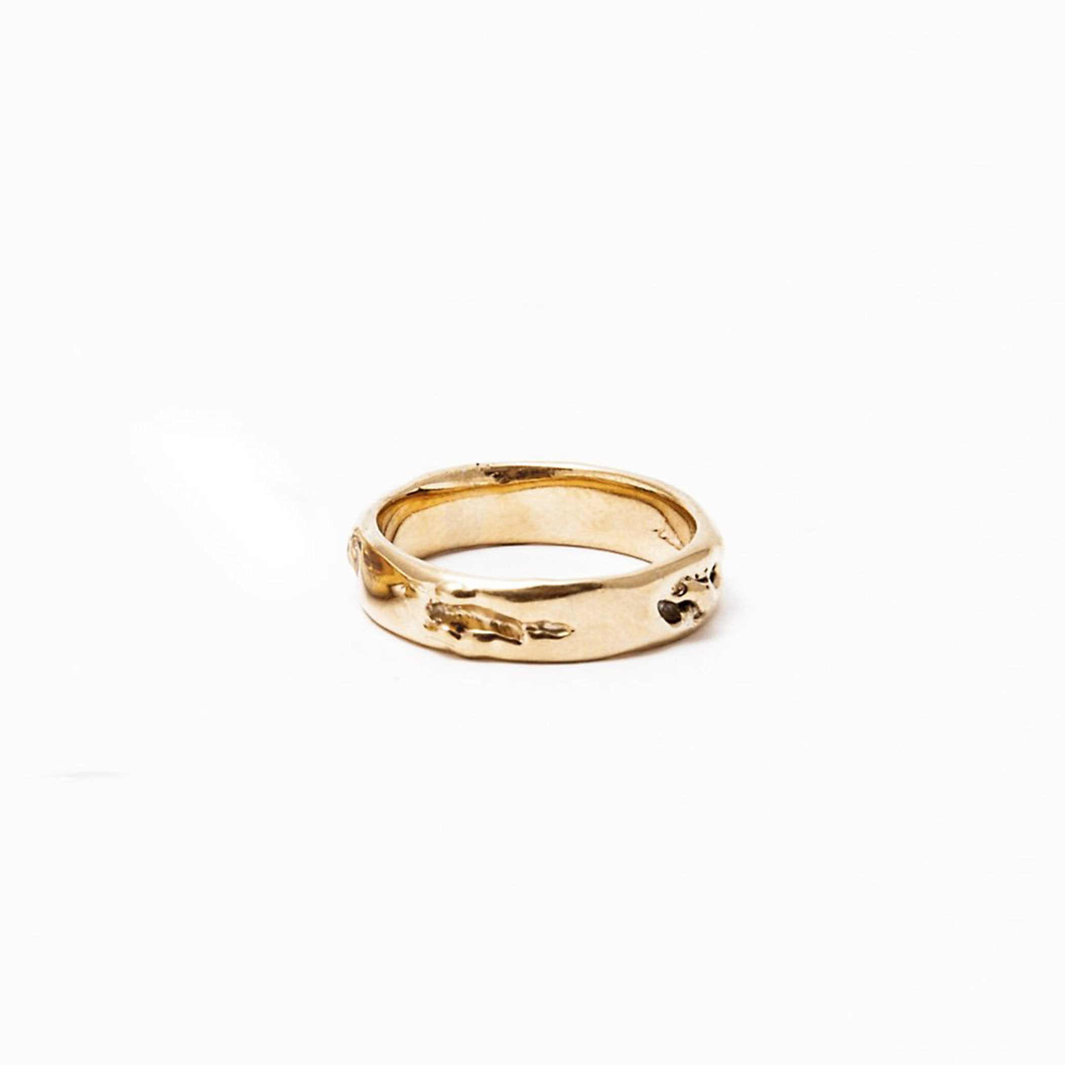wedding ring asteriae gold product view innan jewellery