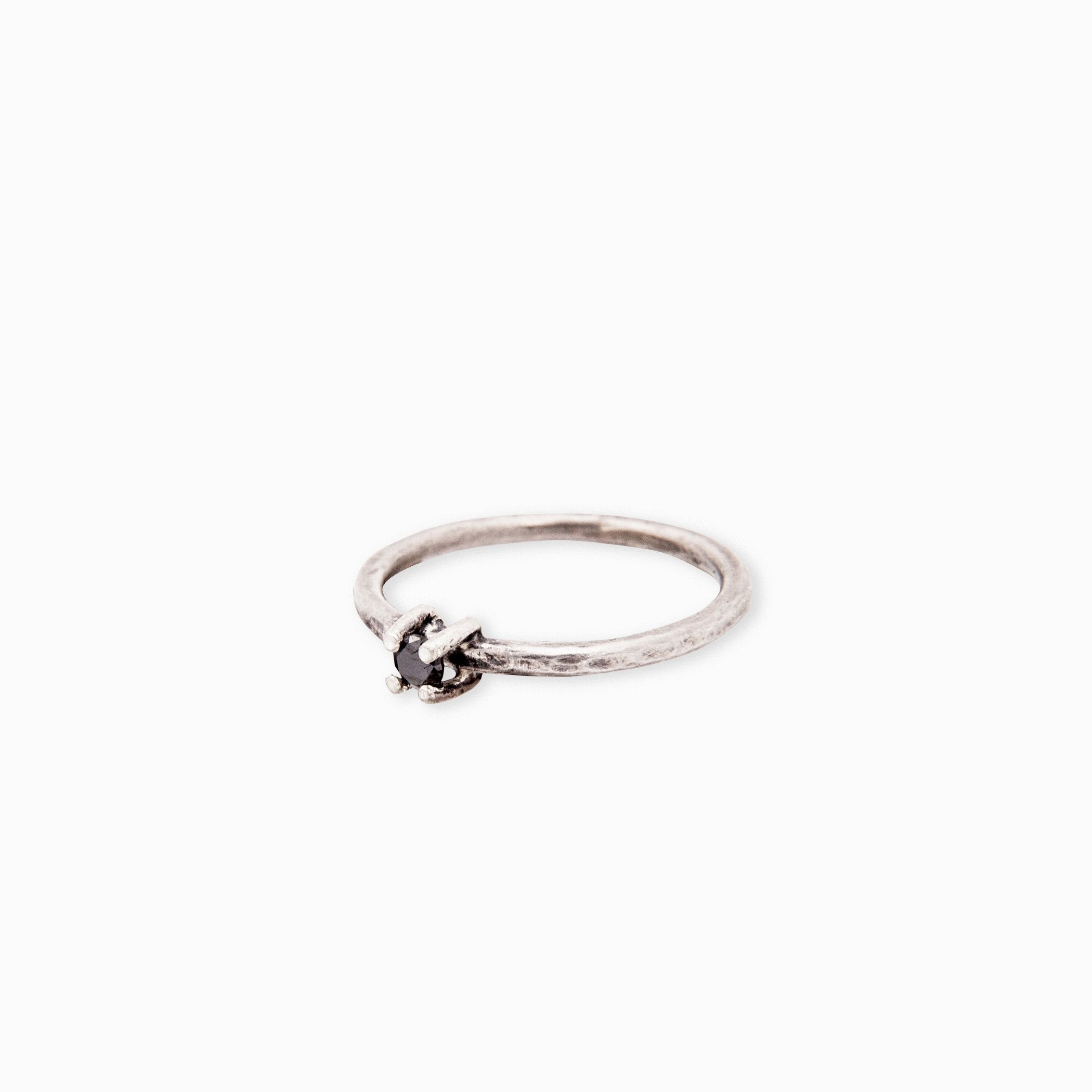 wedding ring oshun silver black diamond product view innan jewellery