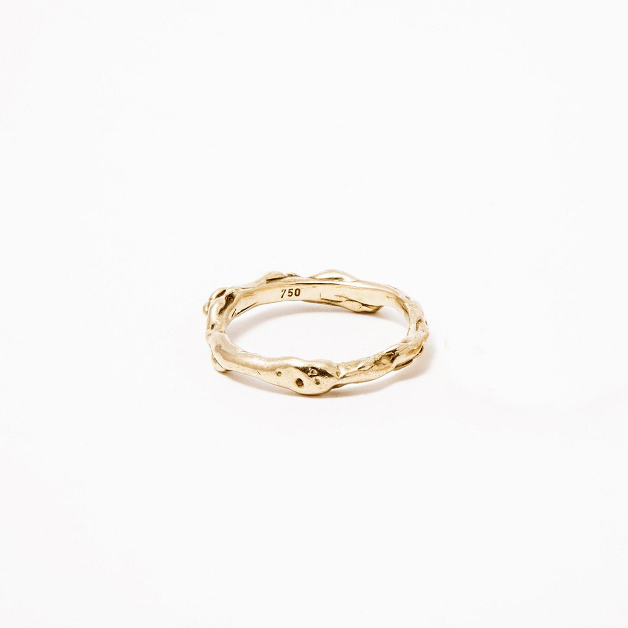 wedding ring haliae gold unique product view innan jewellery