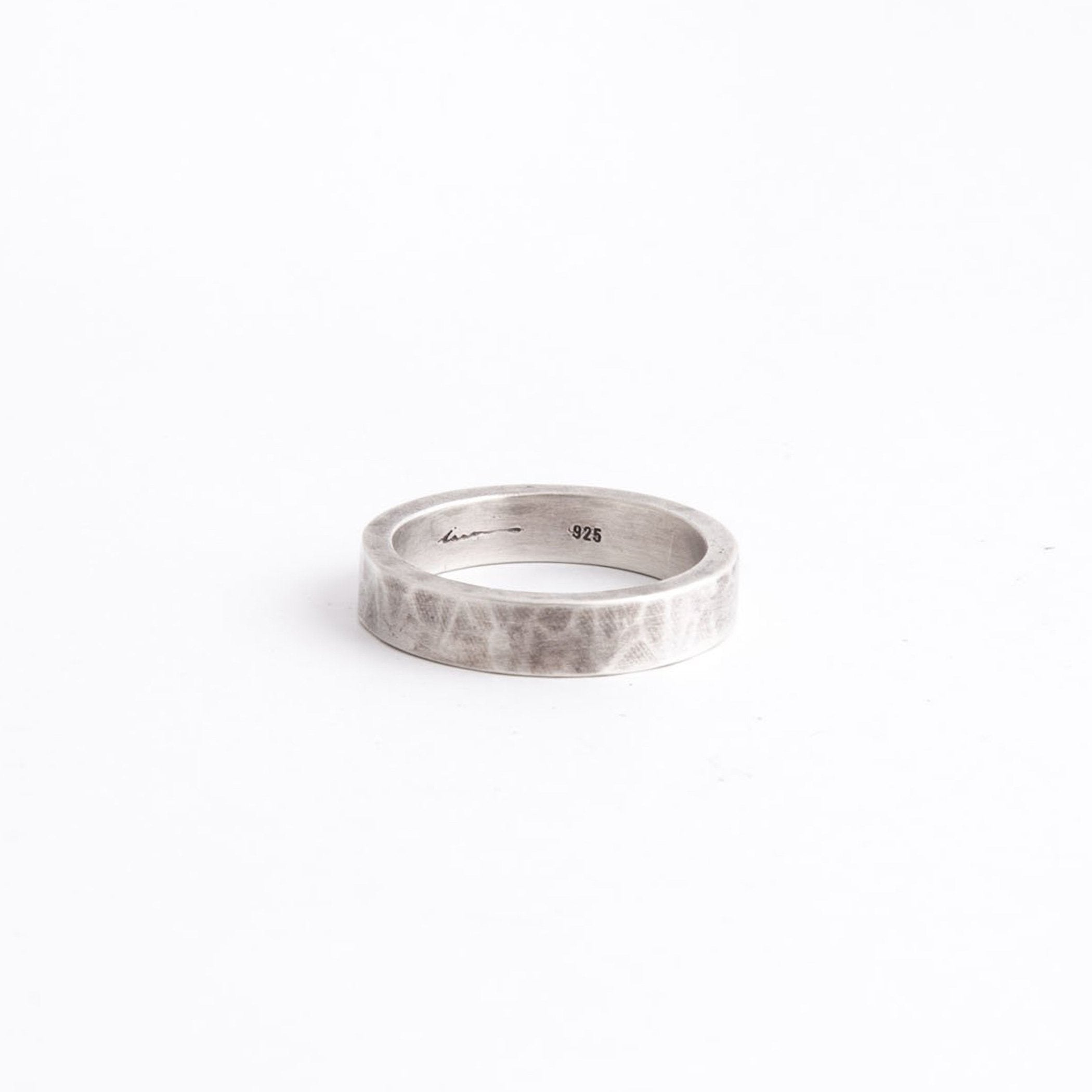 wedding ring oshun silver matte hammered product view innan jewellery
