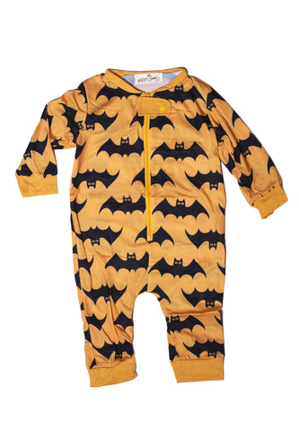Infant Freakin' Bats Light Orange Bodysuit Onesie