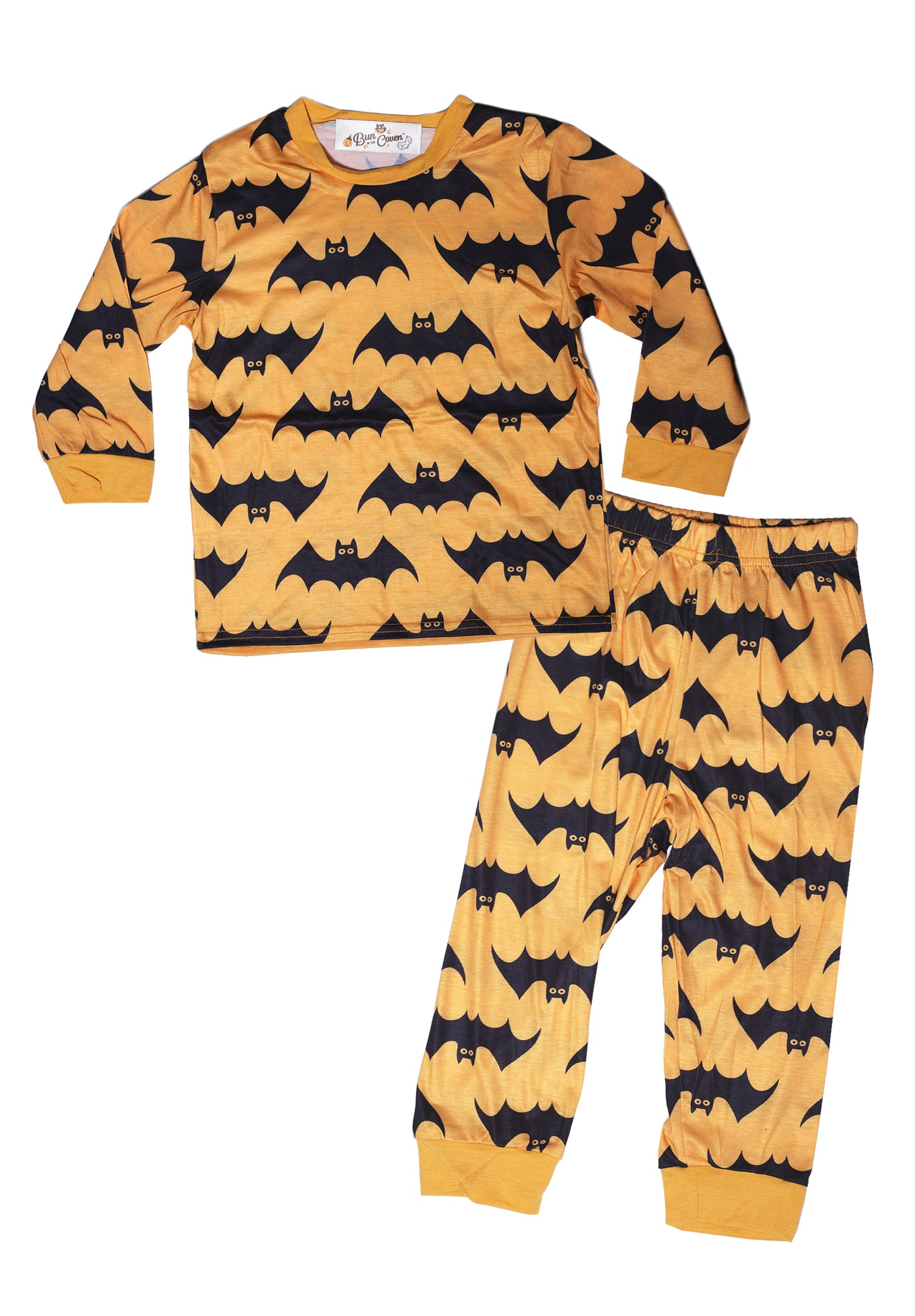 Toddler Freakin' Bats Light Orange Pajama Set