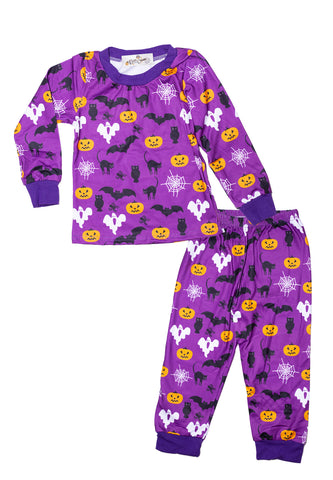 Infant Halloween Frights Purple Pajama Set