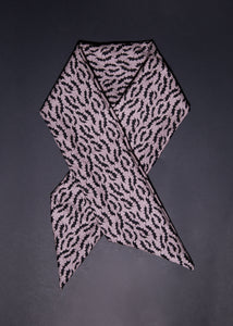 Headwrap / Neckerchief in Gray Bat Print