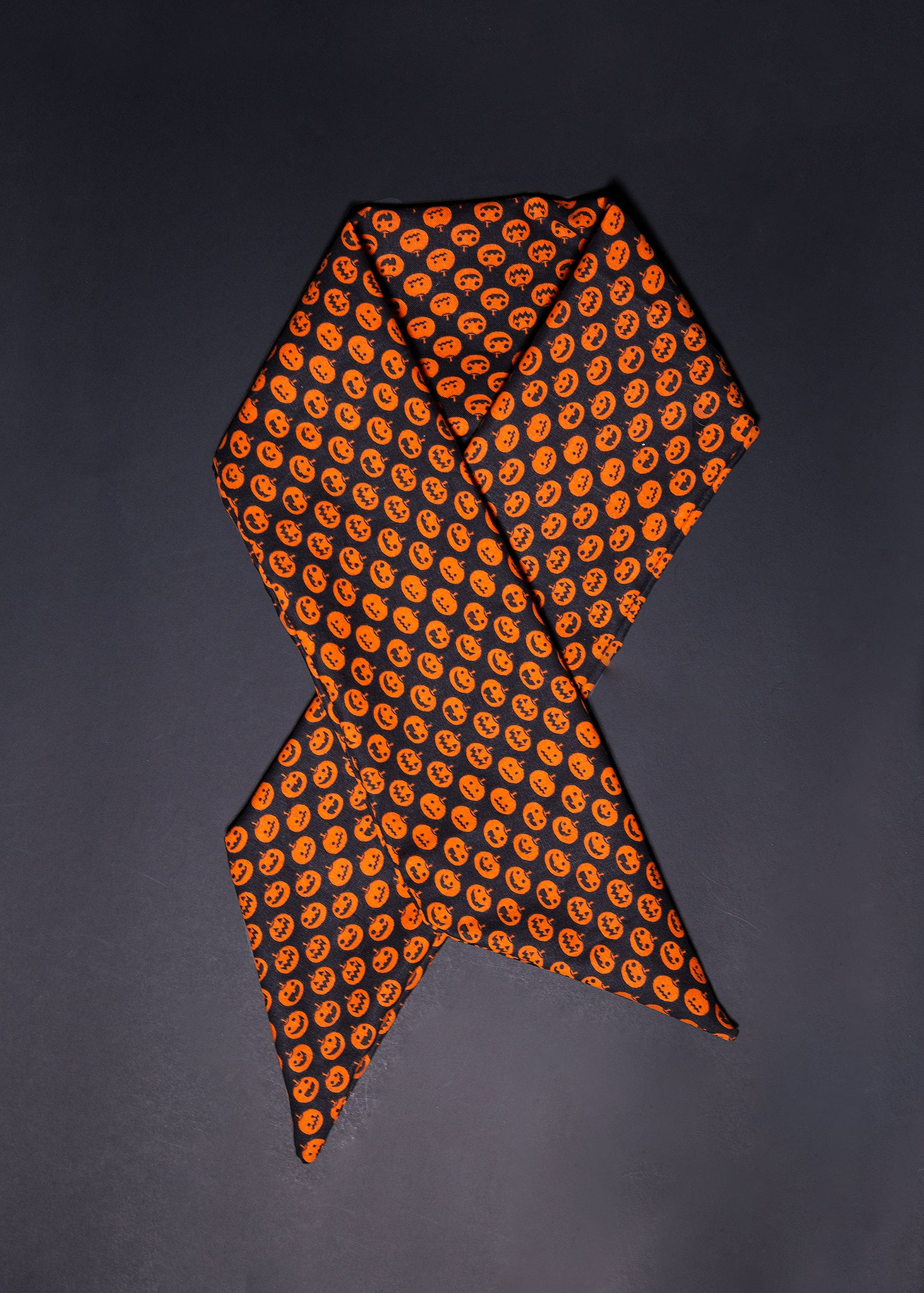 Headwrap / Neckerchief in Pumpkin Print