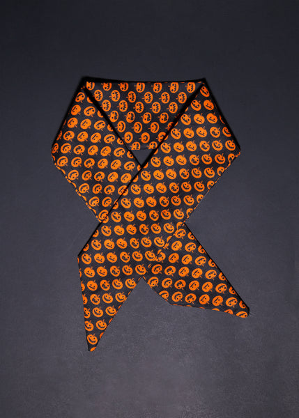 Headwrap / Neckerchief in Pumpkin Print for Kids