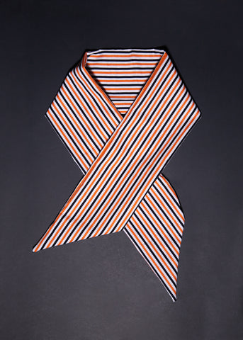 Headwrap / Neckerchief in Candy Halloween Stripe