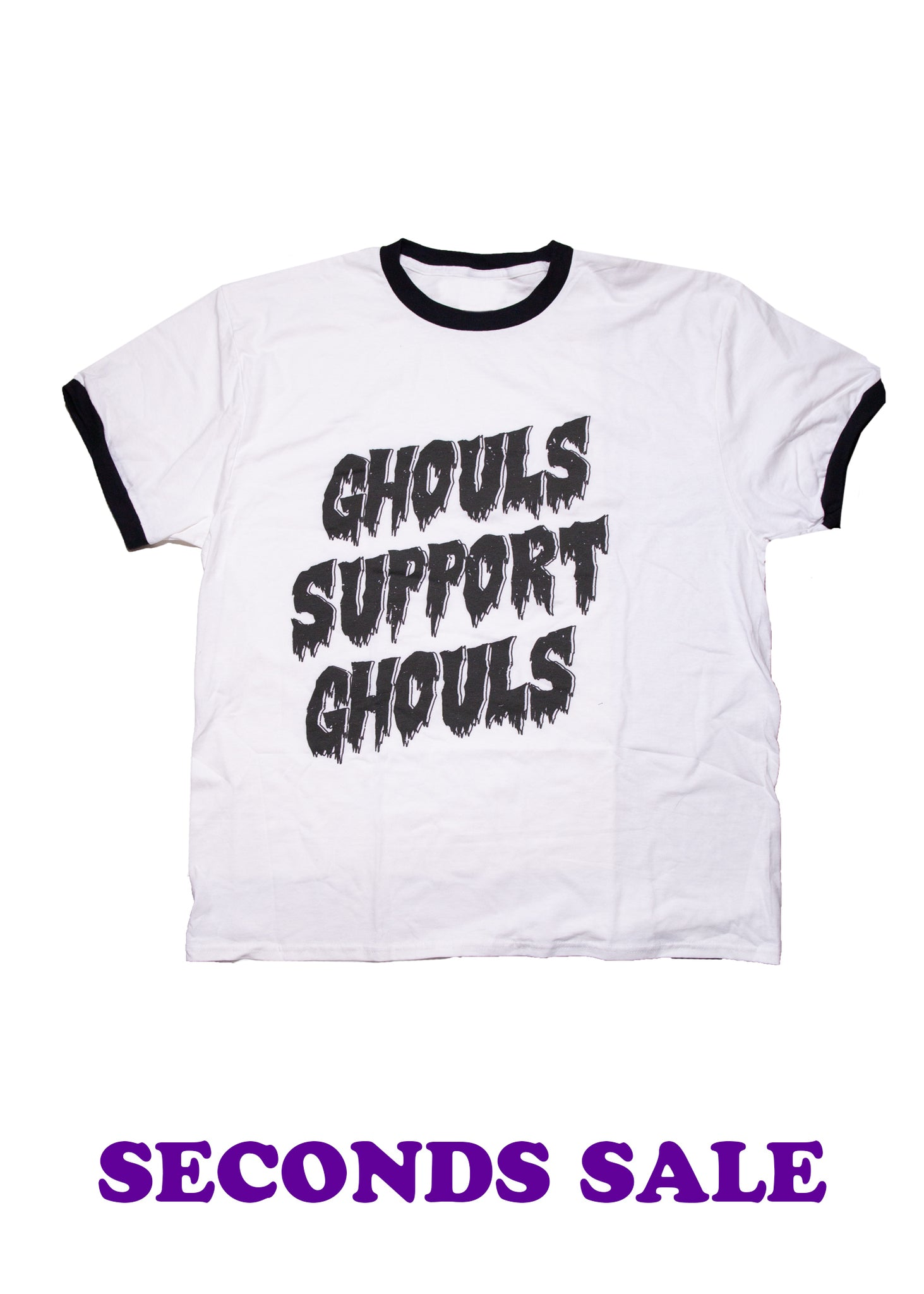 FINAL SALE - Sample Ghouls Support Ghouls Ringer Unisex T-Shirt